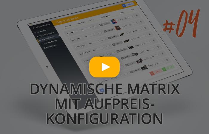 X-CONFIG CIM Starter Edition - Dynamische Matrix mit Aufpreis-Konfiguration erstellen